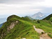 Pod vrcholem, cesta vedoucí na Poludňový grúň, Stoh, Velký a Malý Rozsutec