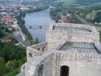 Pohled z hlavní věže směrem na sever