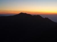 Malý Kriváň po západu slunce.