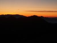 Roháče před východem slunce. Foceno z Velkého Kriváňa.