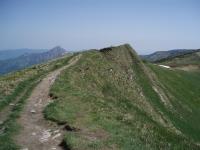 Cesta směrem k Velkému Kriváni. V pozadí vlevo Malý a Veľký Rozsutec