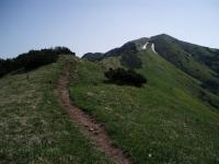 Cesta na Malý Kriváň ze sedla Priehyb